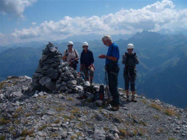 Klettersteig Braunwald : 18.8.2009 zischtigsclub auf dem klettersteig braunwald mit margi